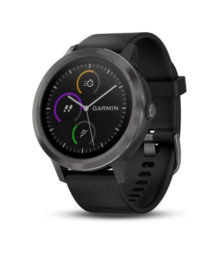 Garmin vivoactive 3 Black Silicone Slate Grey Hardware Watch 10